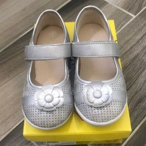 Silver Mary Jane Toddler Shoe Size 9